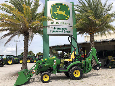 2018 John Deere 1025R w/ Backhoe Only 11 Hours