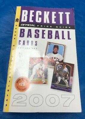 """The Official Beckett Baseball Cards Price Guide 27Th Edition 2007 """"Sale"""""""