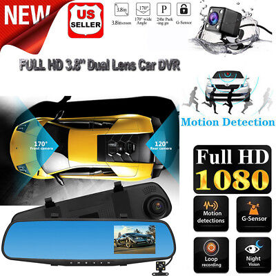 "300 Dual Lens Dash Cam 2.7"" Full HD Car DVR Camera Video Recorder w/ GPS Logger"