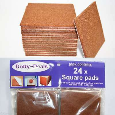 Felt Self Adhesive Pads Protects Wood Vinyl Laminate Floors Square Pack 24SQ