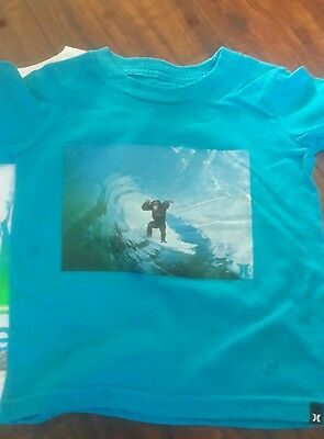 Hurley Boys S//S Baby Cyan Wave Magnet Top Size 5 6 $16