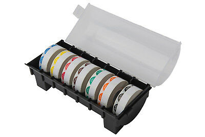 Day Dot Food Label Dispenser + 7 Rolls of 1000 19mm Labels/Catering Stickers