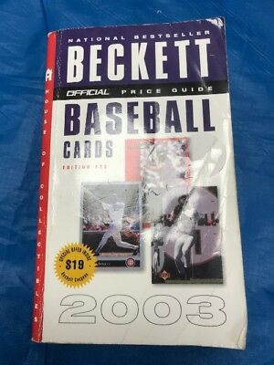 """The Official Beckett Baseball Cards Price Guide 23Rd Edition 2003 """"Sale"""""""