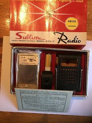 Superb Absolutely! New Old Stock Sublime STR-7 Transistor Radio MINT MINT!!