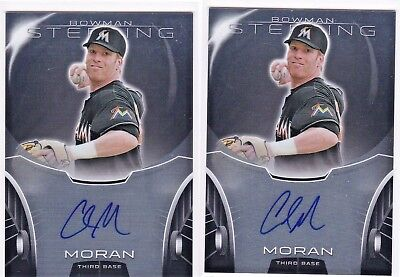LOT Colin Moran Pittsburgh Pirates UNC 2013 Bowman Sterling Prospects # AUTO RC