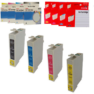 EPSON 711-714 CARTUCCIA COMPATIBILE NO ORIGINALE Bk Ciano Magenta Yellow