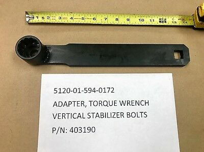 Adapter, Torque Wrench Vertical Stabilizer Nsn 5120-01-594-0172 P/N 403190