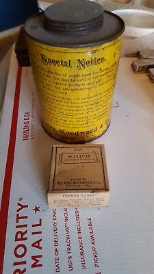 Antique Vintage Allaire,woodward & Co 1800S Tin & Unopened Box Full