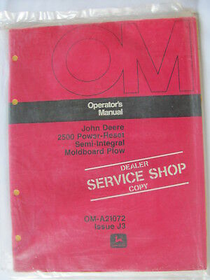 John Deere 2500 Semi Intregal Moldboard Plow Operator Manual