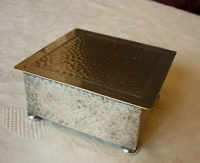 Antique Arts & Crafts WMF hammered silver plated box
