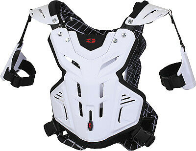EVS F2 Modular White MX Offroad Motocross Motorcycle Chest Roost Protector