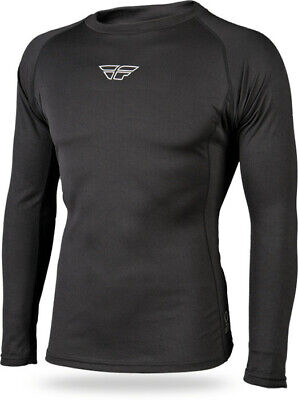 Fly Racing Snow Black Heavy Weight Long Sleeve Cold Weather Base Layer Shirt Top