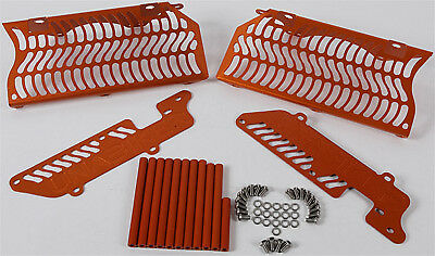 UNABIKER 14KTMXCW-O Dirt Bike Armor Radiator Guards KTM 200-300XCW/EXC '08-'16