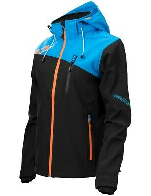 Castle Womens Barrier G2 Tri-Lam Hooded Soft Shell Under Layer Jacket Blue Black