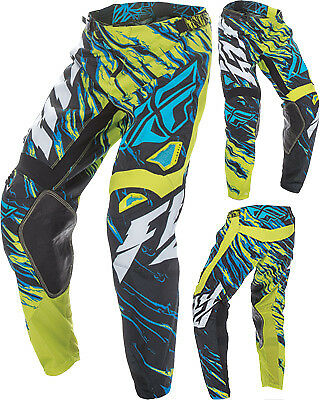Fly Racing Kinetic Relapse Green ATV Motocross Offroad Motorcycle Riding Pant