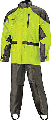 Nelson Rigg Street Motorcycle Riding AS-3000 Aston Rain Suit Hi-Vis Yellow