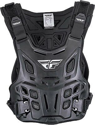 Fly Revel Race Black ATV Enduro Offroad Trail Riding Roost Guard Chest Protector