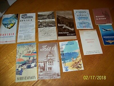 1950 TOUR of EUROPE Letters(12) & Souvenir Brochures(17) from Intl Student Study
