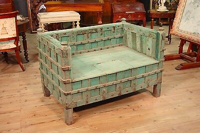 Sofa indian furniture chest eastern wooden lacquered antique style 900 XX