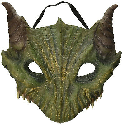 Dragon Mens Adult Mythical Creature Green Half Face Costume Mask