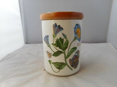 "PORTMEIRION""TRAILING BINDWEED""STORAGE JAR-13.5cms high and 11.5cms diameter"