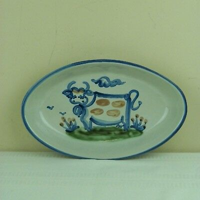 "M.A. Hadley Cow Farm Country 11 1/2"" Oval Serving Platter Dish"
