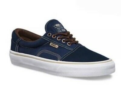 fc12d7b184e8 Vans Mens 7 Womens 9.5 Rowley Solos Dress Blue Brown Canvas Suede Shoes  Sneakers