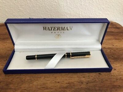 Waterman Paris Green and Black Marble with Gold Trim Ballpoint Pen