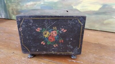 "Antique Cast Iron Bank 19th Century Old Rare Unique 1800's Collectible 6"" Wide"