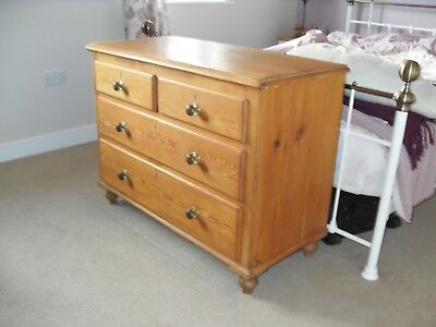Antique old pine chest of drawers (Victorian?)