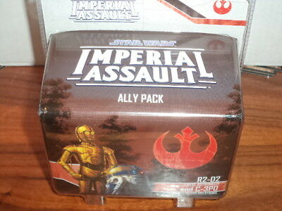Star Wars Imperial Assault R2-D2 and C-3PO Ally Pack Miniature Board Game New