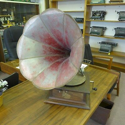Antique Colombia Disc Graphophone 78 Rpm Phonograph Missing Governor