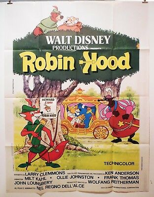 "WALT DISNEY'S  ROBIN HOOD - GIANT 55""  TALL MOVIE Poster - GORGEOUS! BEST POSTER"