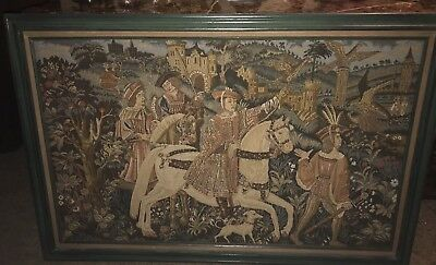 antique large wall hanging tapestry french