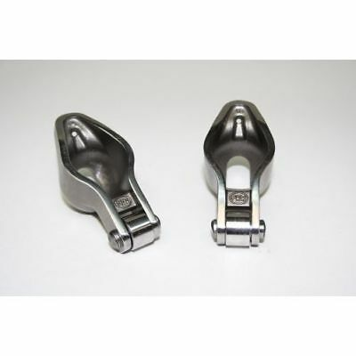 """PRW 0835005 Pair Self-Aligning Sportsman Steel Rocker Arms 1.6 x 3/8"""" For Chevy"""