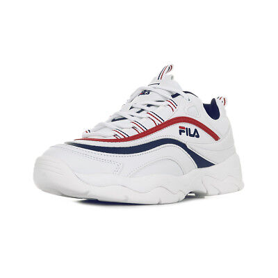 Chaussures Blanc Fila Taille Baskets Red Ray Wmn Femme Navy Low OO7rZP