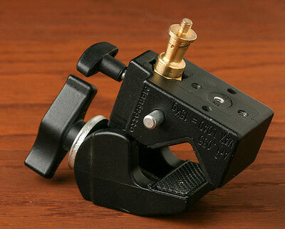 2 Manfrotto/Avenger Super Clamps Black Clamp with stud.
