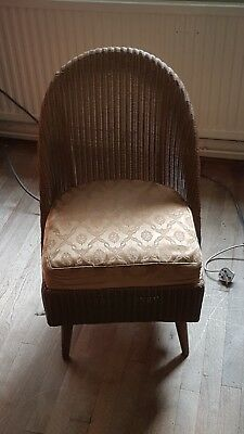 Lloyd Loom vintage retro Lusty wicker chair sprung cushion
