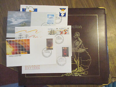 N0-5- Aust;  Fdc  Album  -1985  Philatelic  International--Good   Order- 6 Fdc's