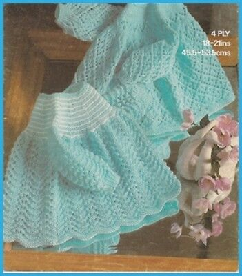 Knitting Pattern BABY Angel Tops Dresses ~  Copy ~  4 Ply  2 Designs
