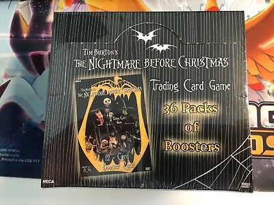 36 Pack Booster Box The Nightmare Before Christmas NEW & SEALED TCG Tim Burton