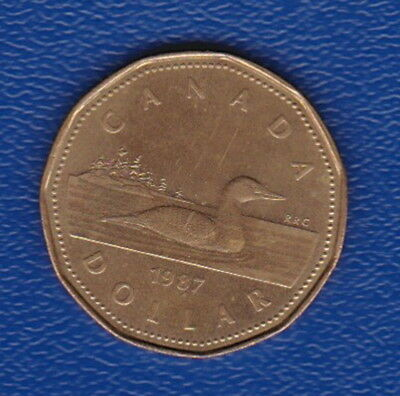 Canada - 1987 (Looney Dollar Coin) Loon swimming on lake - Collectable Series