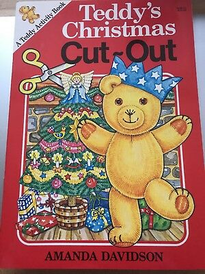 New TEDDY'S CHRISTMAS CUT-OUT ACTIVITY BOOK Amanda Davidson 1990