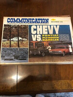 1964 Chevy Vs.pontiac Chevrolet Dealer Communication Sales Order Package