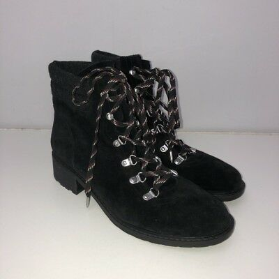 85e1ac4fd504 NEW Sam Edelman Darrah Lace-Up Suede Booties Boots Shoes Size 9.5 Black 9 1