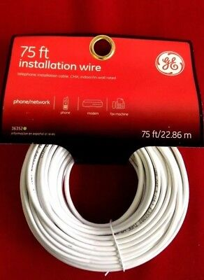 GE 75 ft Feet Installation Wire Telephone Cable CMX NWT NEW