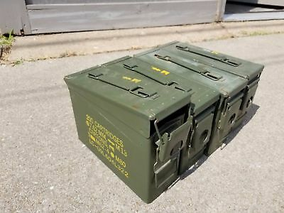6 PACK - 30 Cal Ammo Can Box- Military Surplus M19A1 Cans- Good Condition!