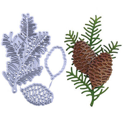3PCS/Set Cutting Dies Pine Cone Metal Decorative Scrapbooking Cute Card DIY