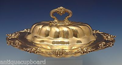 New Vintage by Durgin Sterling Silver Vegetable Dish Covered Detach Handle #0477