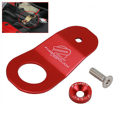 RED Radiator Aluminium Bracket Holding Mount Kit for Honda Civic EK/AP/DC